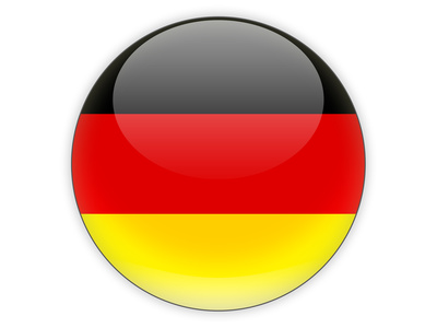 Round icon with flag of germany